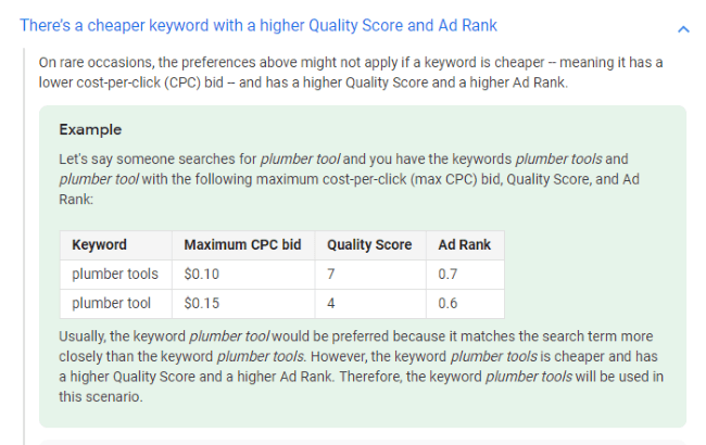 When a Cheaper Keyword Has a Higher Quality Score and Ad Rank