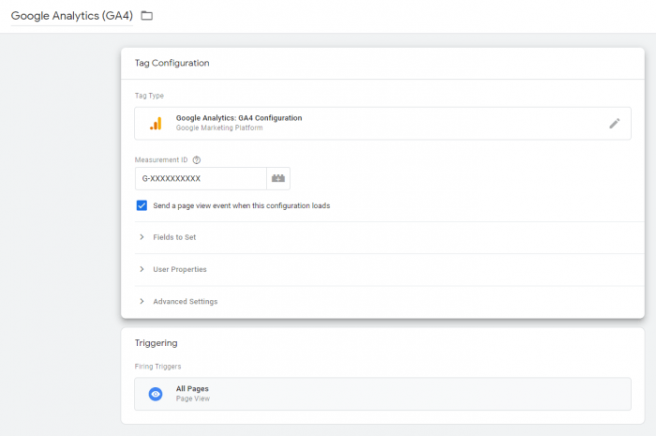 Google Analytics 4 Tag Configuration Setup in Google Tag Manager